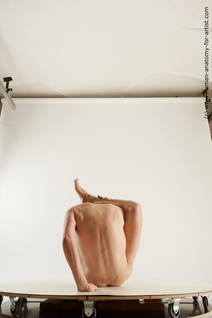 Nude Man White Slim Short Black Multi angles poses