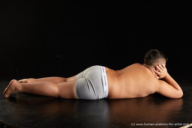 Underwear Man White Overweight Short Black Standard Photoshoot