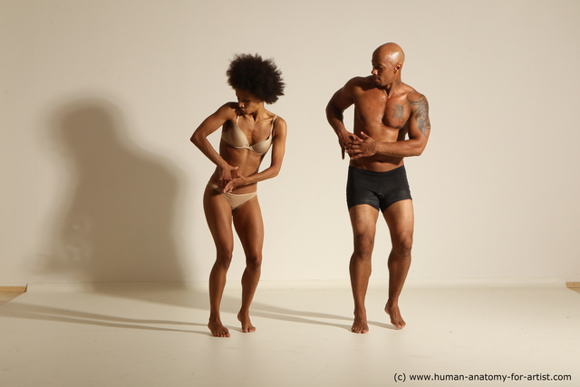 Underwear Man Black Athletic Dancing Dynamic poses