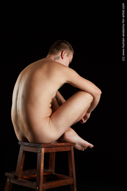 Nude Man White Sitting poses - simple Average Short Brown Sitting poses - ALL Standard Photoshoot
