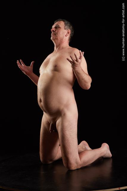 Nude Man White Short Grey Standard Photoshoot Chubby