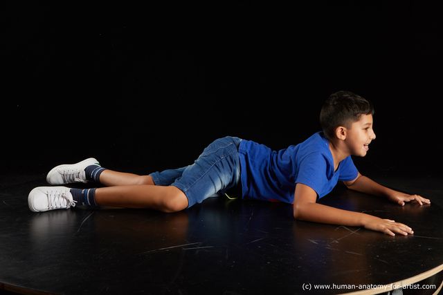 Sportswear Man White Laying poses - ALL Average Short Laying poses - on stomach Black Standard Photoshoot