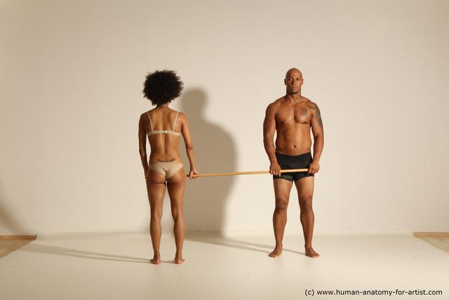 Underwear Man - Man Black Athletic Dancing Dynamic poses