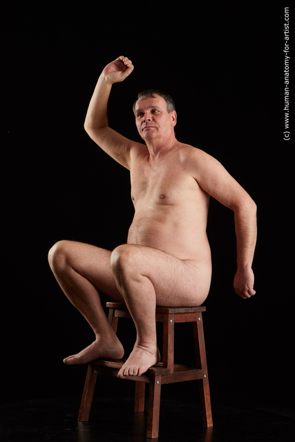 Nude Man White Sitting poses - simple Chubby Short Grey Sitting poses - ALL Standard Photoshoot