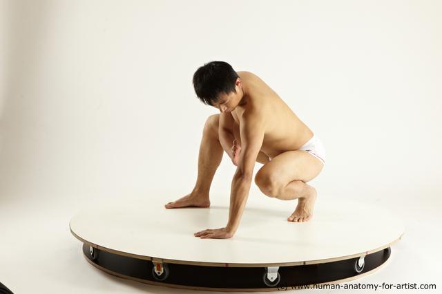 Underwear Man White Slim Medium Black Multi angles poses