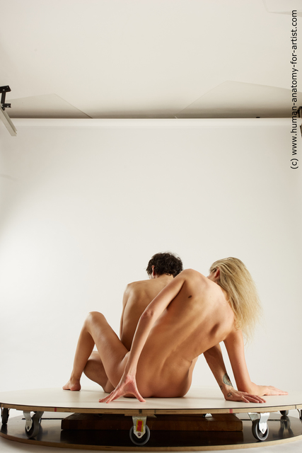 Nude Woman - Man Sitting poses - simple Slim Sitting poses - ALL Multi angles poses