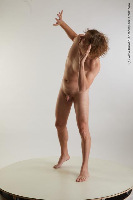 Nude Man White Standing poses - ALL Slim Medium Blond Standing poses - simple Standard Photoshoot