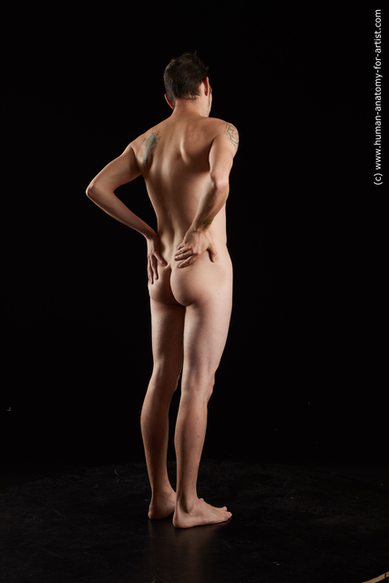 Nude Man White Standing poses - ALL Athletic Short Black Standing poses - simple Standard Photoshoot