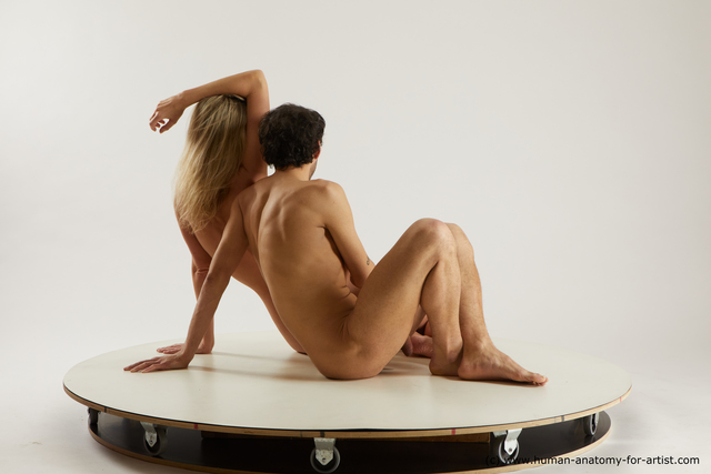 Nude Man Sitting poses - simple Slim Sitting poses - ALL Multi angles poses