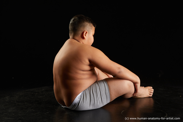 Underwear Man White Sitting poses - simple Overweight Short Black Sitting poses - ALL Standard Photoshoot